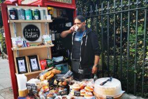 Caffè Astori, nasce a Londra il mini bar italiano in una cabina telefonica