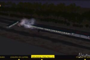 Ricostruzione 3D dell'incidente ferroviario di Pioltello