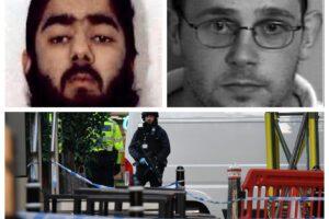 A destra Usman Khan, a sinistra l'ex omicida James Ford