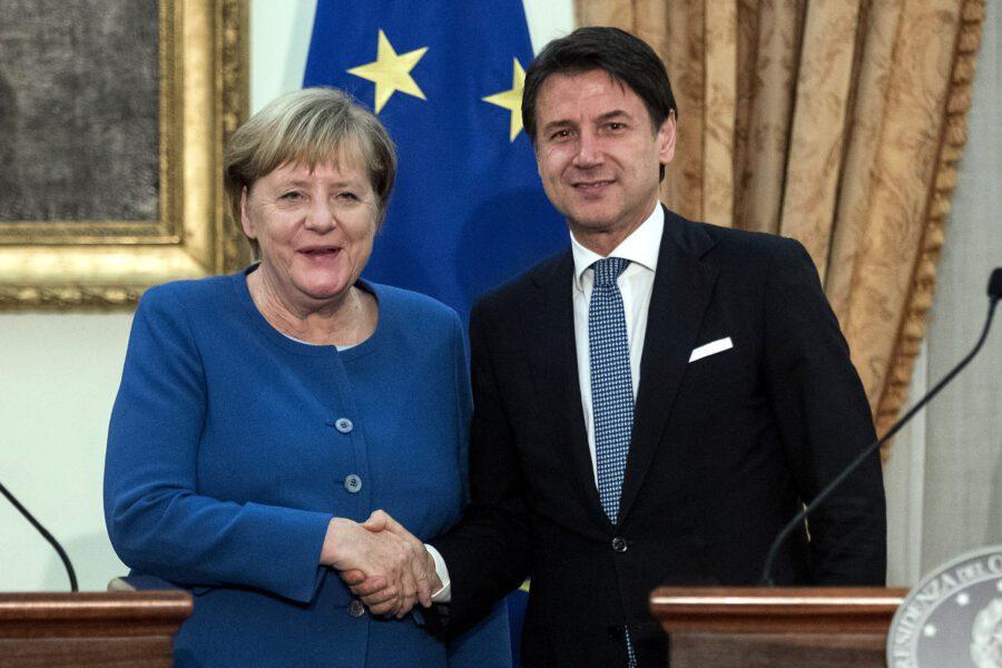 """Conte incontra Merkel: """"Cooperiamo nel commercio e nella gestione dei migranti"""""""