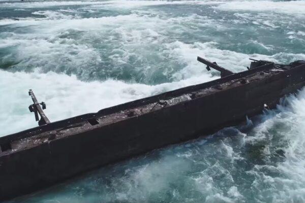 Cascate del Niagara, la tempesta sposta una nave dopo un secolo