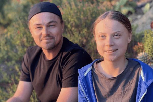 """Leonardo Di Caprio incorona Greta Thunberg """"leader del nostro tempo"""""""
