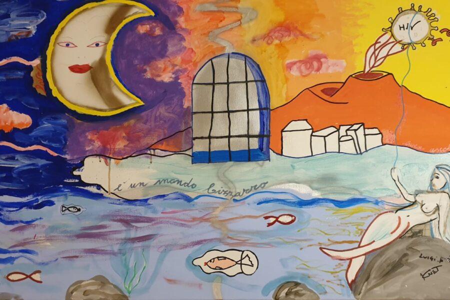Giornata mondiale di lotta all'AIDS, nel carcere di Poggioreale il murales contro l'Hiv