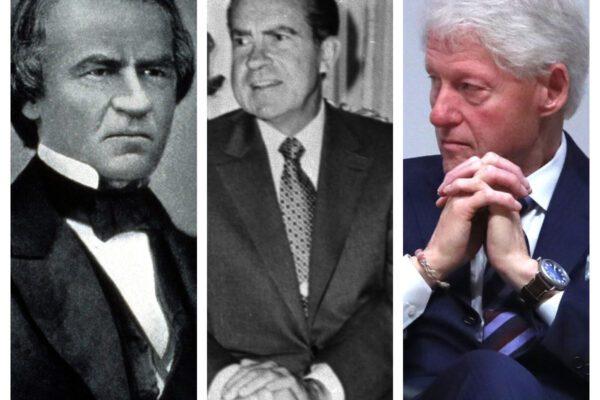 Johnson, Nixon e Clinton: i tre precedenti