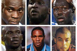 In alto da sinistra: Mario Balotelli, Romoleu Lukaku, Kalidou Koulibaly In basso da sinistra: Marco André Zoro, Aron Winter, Maickel Ferrier