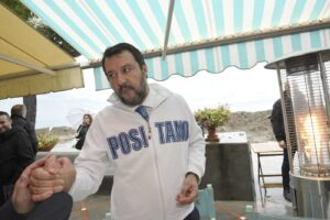 Matteo Salvini a Positano