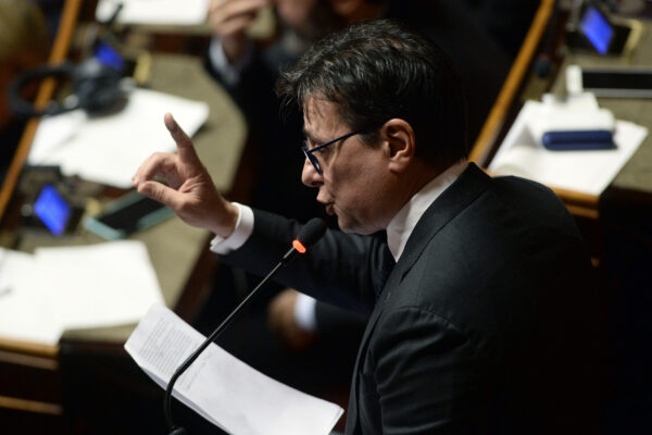 Foto Fabio Cimaglia / LaPresse 11-12-2019 Roma Politica Senato. Comunicazioni del Presidente del Consiglio Giuseppe Conte sul prossimo Consiglio Europeo Nella foto Ugo Grassi  Photo Fabio Cimaglia / LaPresse 11-12-2019 Rome (Italy) Politic Senate. Communications from the Prime Minister Giuseppe Conte on the next European Council In the pic Ugo Grassi