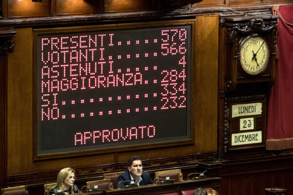 Foto Roberto Monaldo / LaPresse 23-12-2019 Roma Politica Camera dei Deputati – Legge di Bilancio Nella foto Il voto di fiducia  Photo Roberto Monaldo / LaPresse 23-12-2019 Rome (Italy) Chamber of Deputies – Budget Law In the pic The vote of confidence