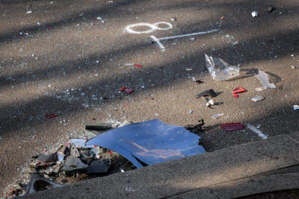 Foto LaPresse – Matteo Corner 17/02/2019 Milano,Italia Cronaca Incidente autobus auto Polizia in piazza Cadorna