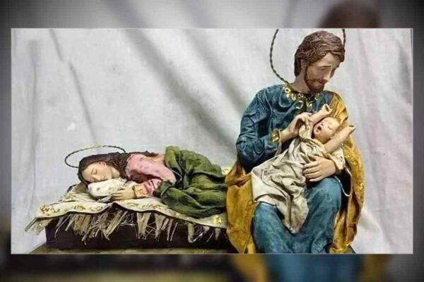 """""""Facciamo riposare mamma"""", l'originale presepe che ha commosso Papa Francesco"""