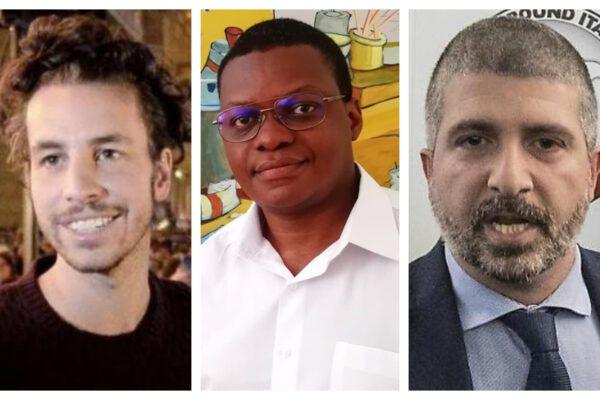 Mattia Santori, Stephen Ogongo, Simone Di Stefano