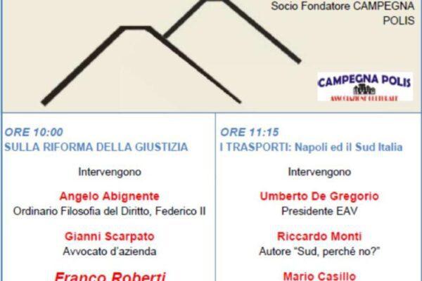 Napoli, il 21 dicembre due convegni su riforma della giustizia e trasporti