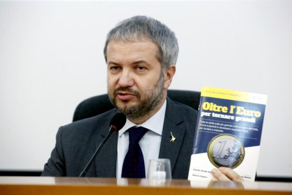 """Italia fuori dall'euro, il leghista Borghi rilancia: """"Non può essere un tabù"""""""