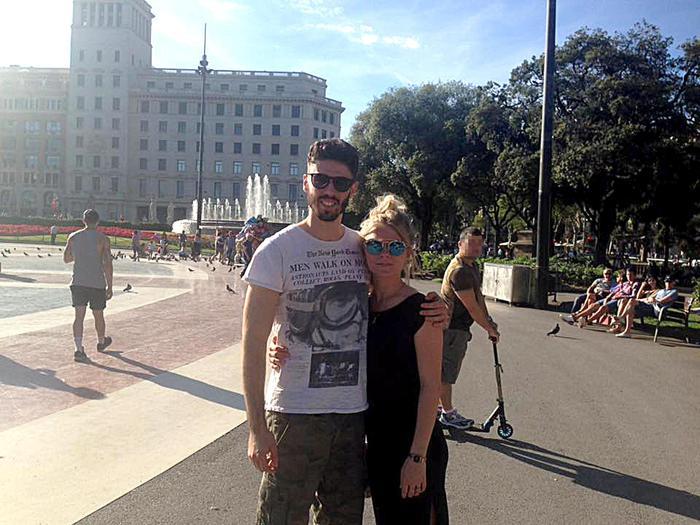 Luca Sacchi con la fidanzata Anastasya