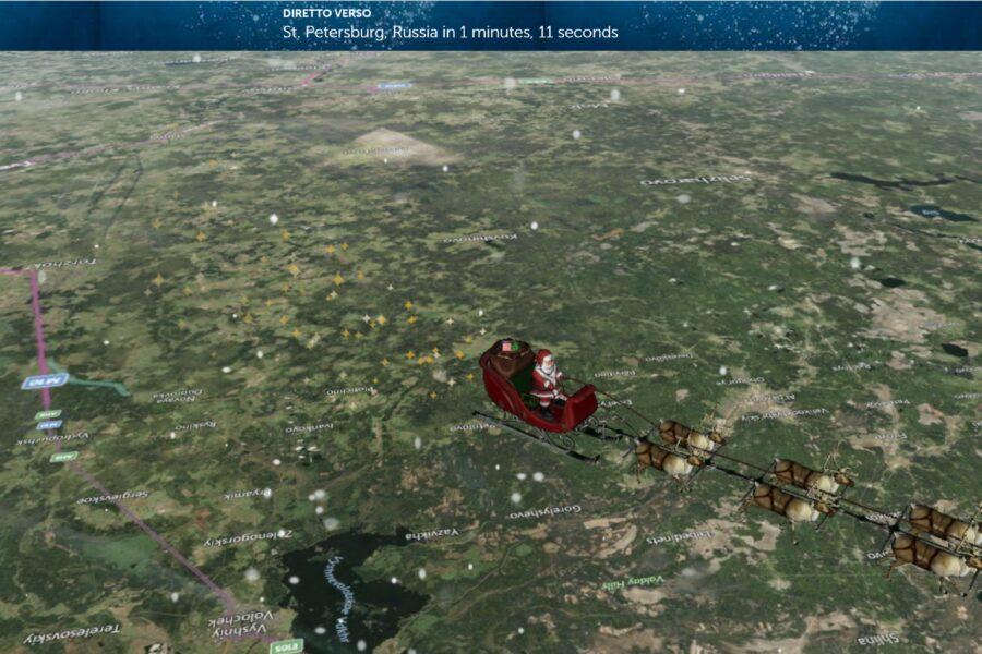 Gli astronauti Iss aiutano a 'individuare' Babbo Natale nel suo tour