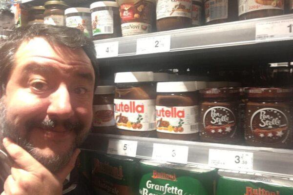 Salvini e il controverso rapporto con la Nutella: dal gran rifiuto al ripensamento