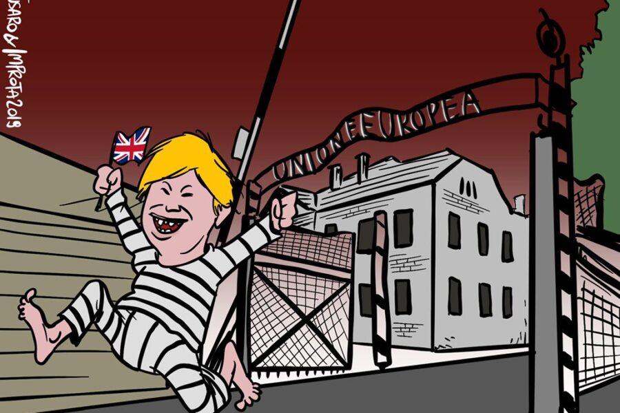 Unione Europea paragonata ad Auschwitz, vignettista del Comune di Roma 'cacciato' dalla Raggi