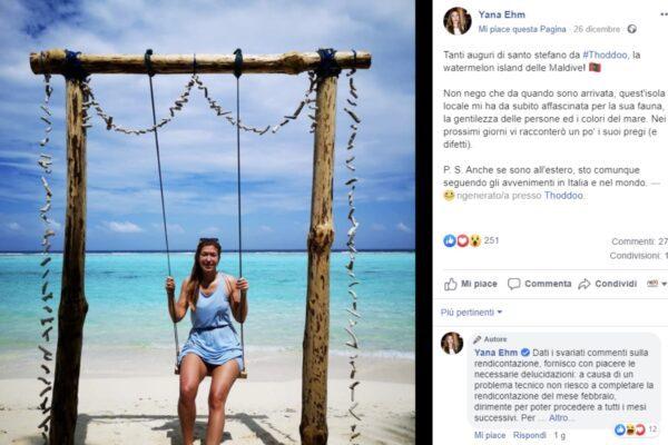 """La foto della deputata grillina alle Maldive fa infuriare la base: """"Sei in ritardo con i rimborsi"""""""
