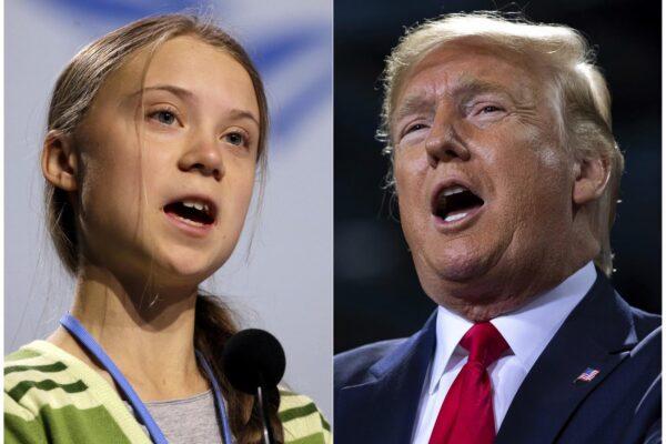 Donald Trump e Greta Thunberg, uniche due persone al mondo che fanno politica davvero