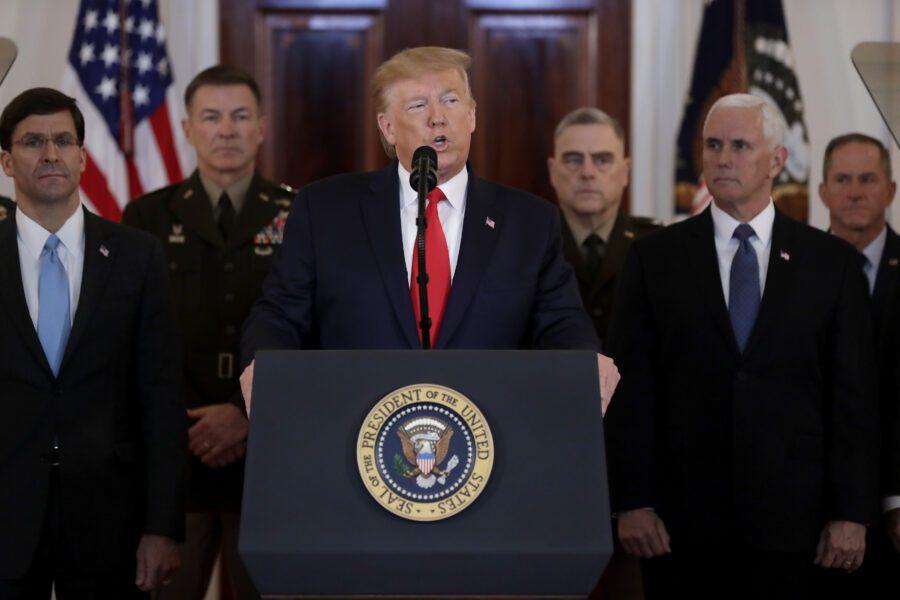 """Trump: """"Uccisione Soleimani era per fermare una guerra non per iniziarla"""""""