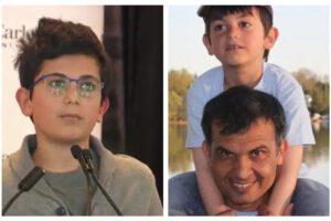 """Aereo abbattuto in Iran, il discorso del piccolo Ryan: """"Mio padre era forte, ci volevamo tanto bene"""""""