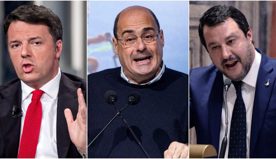 Sondaggio Swg: brusco calo della Lega, risalgono Italia Viva e Partito Democratico