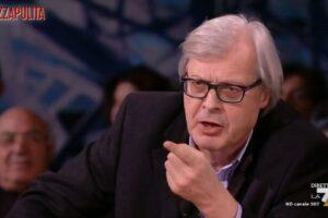 """Duello in tv tra Sgarbi e una """"sardina"""": volano offese"""