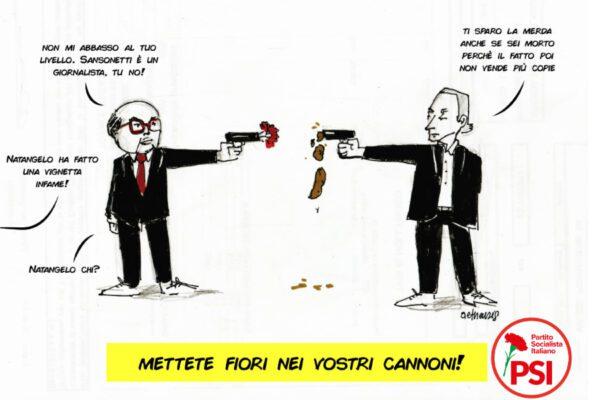 La vignetta di Natangelo su Craxi è becero squadrismo e ironia di bassa lega