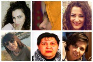 In alto a sinistra Rosalia Mifsud. In alto a destra la figlia Monica Diliberto. In basso da sinistra: Speranza Ponti, Rosalia Garofalo e Francesca Fantoni