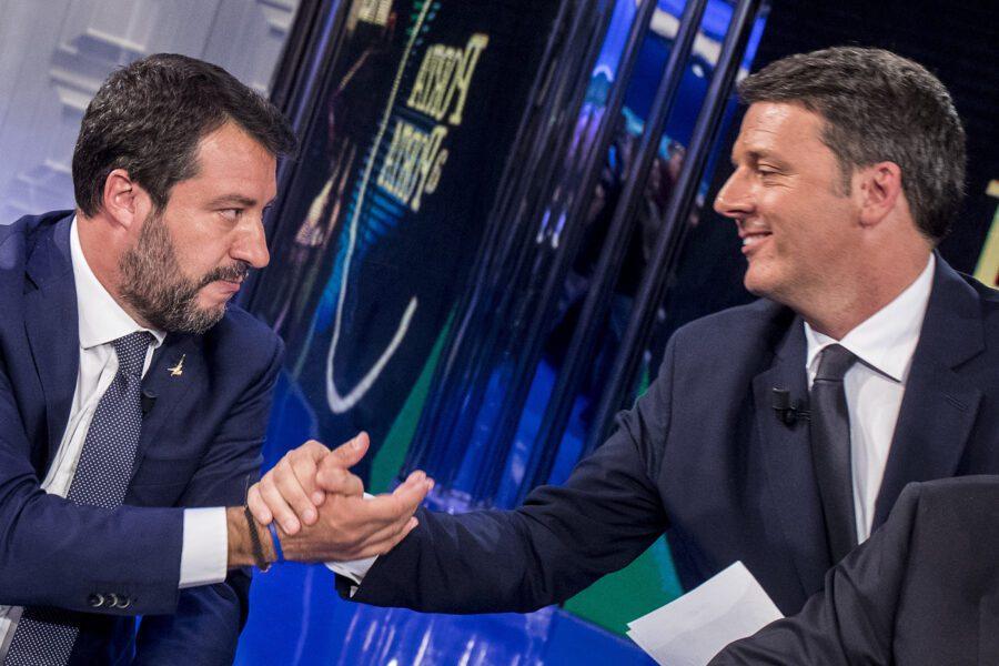 """Salvini corteggia Renzi che taglia corto: """"Legislatura fino a scadenza"""""""