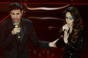 """Gessica Notaro e Antonio Maggio a Sanremo con """"La faccia e il cuore"""", manifesto contro la violenza sulle donne"""