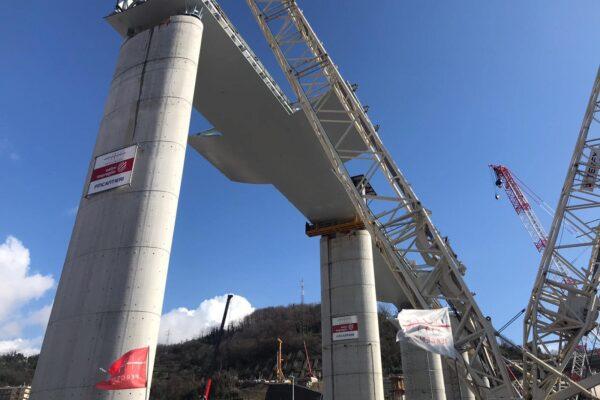 """Genova, completate le 18 pile del nuovo Ponte: """"E' un'opera unica"""""""