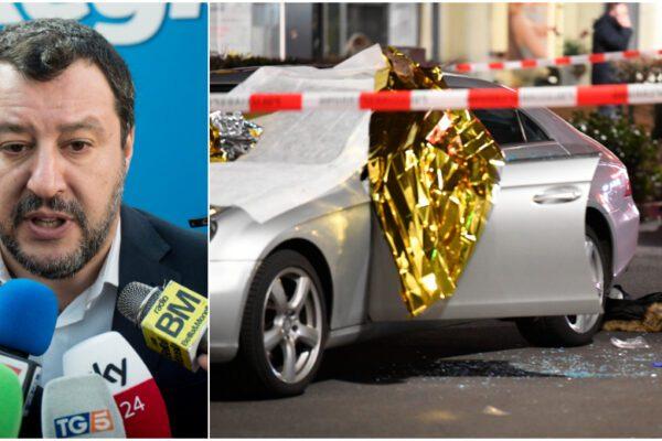 Salvini e gli attentati di serie A e serie B: per Hanau nessuna parola su razzismo e matrice di estrema destra