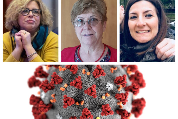 Da sinistra: Concetta Castilletti, Maria Rosaria Capobianchi, Francesca Colavita