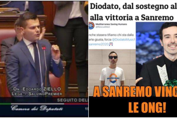 Il deputato leghista Ziello e il 'complotto' delle Ong dietro la vittoria di Diodato a Sanremo