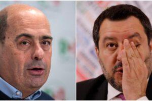 Sondaggio Tecnè: Lega in forte calo, il Pd guadagna 3 punti su Salvini
