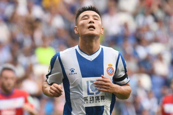 Wu Lei durante la sfida tra Espanyol v Granada dello scorso settembre