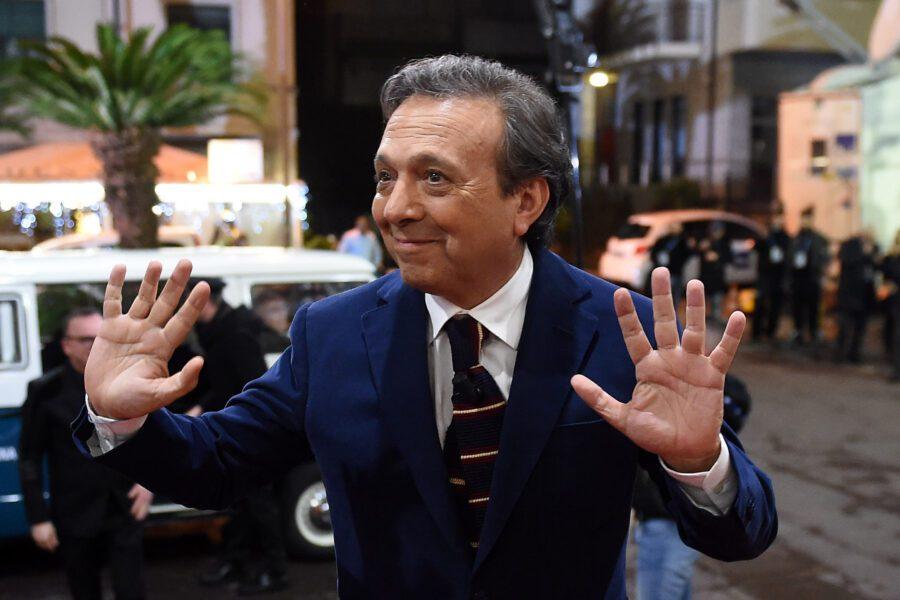 Chiambretti a Sanremo lo scorso dicembre (Foto LaPresse – Tano Pecoraro 19/12/2019)