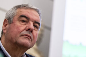 Nella foto il capo della Protezione Civile Angelo Borrelli (Valerio Portelli/LaPresse)