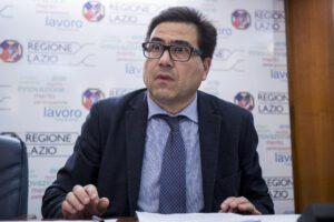 L'assessore alla Sanità del Lazio D'amato a una conferenza stampa dello scorso 6 marzo (Foto Roberto Monaldo / LaPresse 06-03-2020)