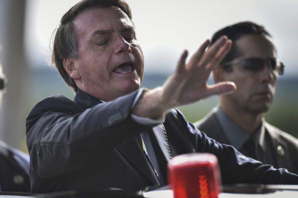 Il presidente del Brasile Jair Bolsonaro (AP Photo/Andre Borges)