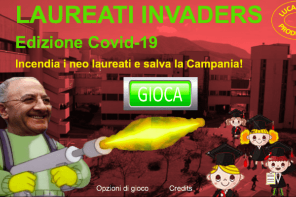 Lanciafiamme contro i laureandi: un videogioco riprende la frase di De Luca
