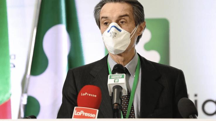 """Coronavirus, Fontana: """"In Lombardia riduzione contagi"""". Tamponi anche a chi ha un solo sintomo"""