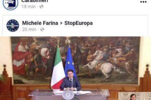 La conferenza di Conte condivisa dai Carabinieri dal profilo sovranista a favore dell'Italexit