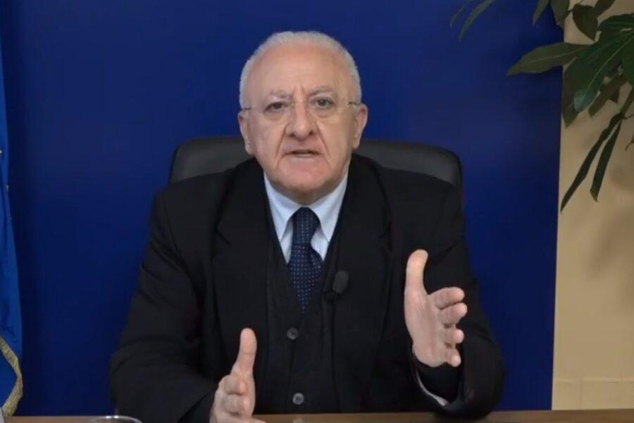 """De Luca proroga la quarantena: """"In Campania vietato uscire di casa fino al 14 aprile"""""""