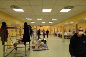 Una delle immagini postata da Fedez su Twitter della nuova terapia intensiva al San Raffaele