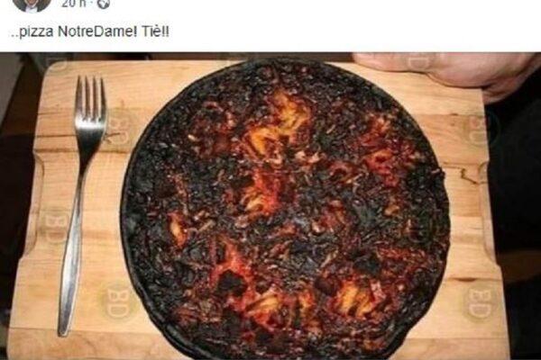 """Coronavirus, bufera sul deputato leghista: risponde ai francesi con una """"pizza bruciata Notre Dame"""""""