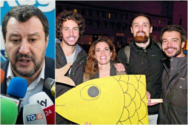 """Salvini chiama """"marziani"""" le Sardine a bordo della Mare Jonio: """"Non hai mai lavorato, devi spiegare i 49 milioni"""""""