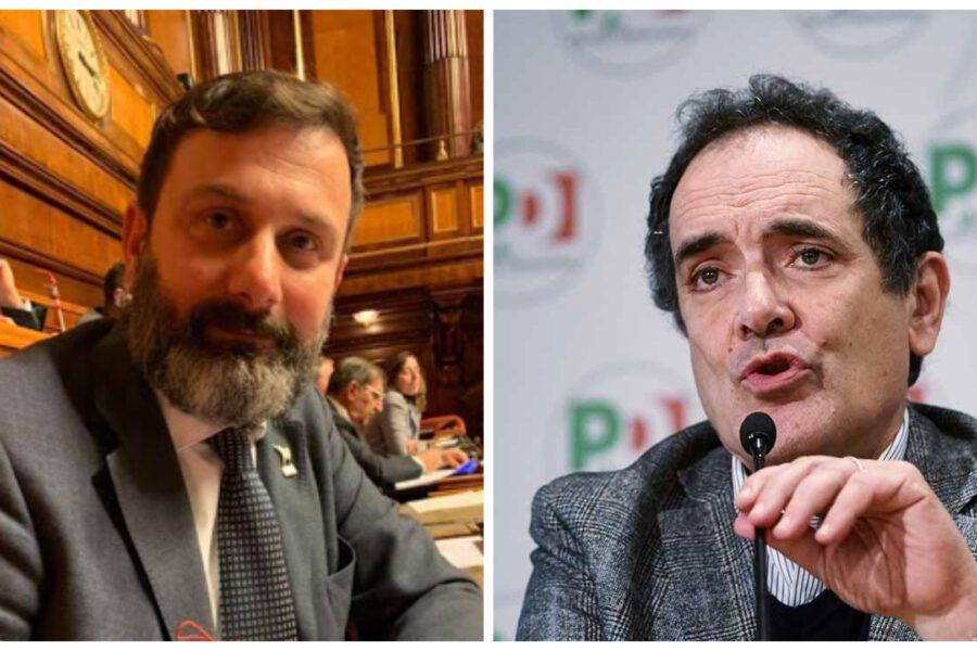 Tensione in Senato, il leghista De Vecchis spinge a terra il dem Mirabelli