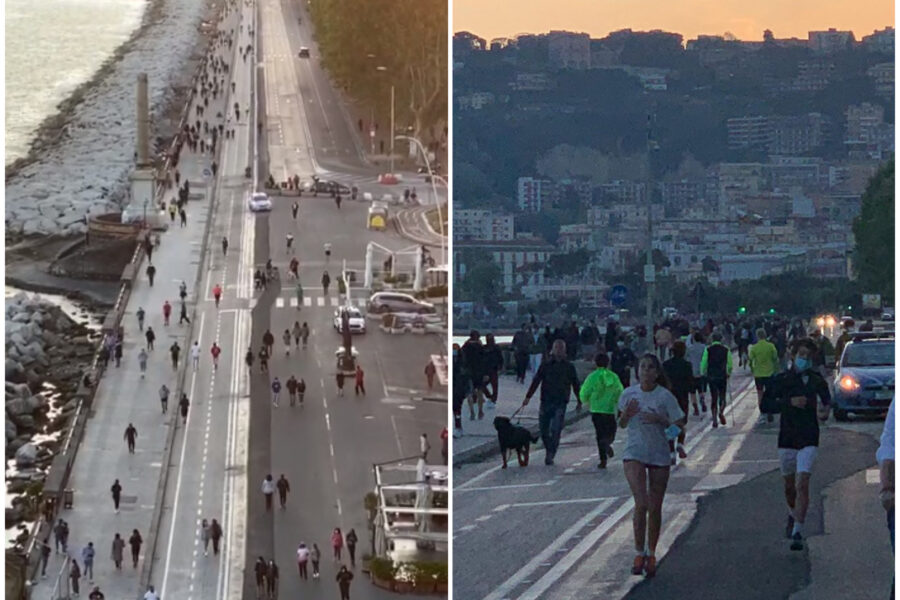 """Lungomare di Napoli affollato, dietrofront di De Luca: """"Vietato fare jogging"""""""